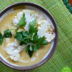 Kokosowy krem z kalafiora z nutką Orientu